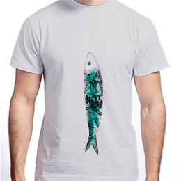 Sardine Solo T-shirt for Him by The Mess