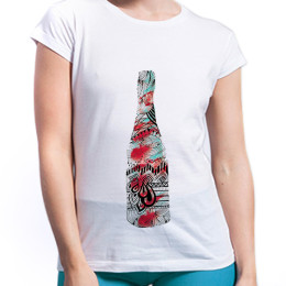 The Bottle T-shirt for Her by The Mess