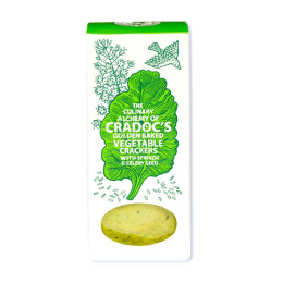 Crackers with Spinach & Celery Seed by Cradoc's